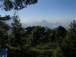 Chinese viewpoint in Tijuca rainforest , delalando - May 2016