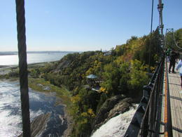 View from the bridge on the trail across Montmorency Falls. , wrhesson - December 2016