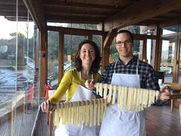 With our fresh made pasta , Elizabeth G - January 2017