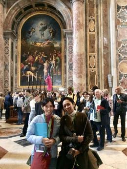 My sister and I in St. Peter's. , Karen R - April 2017