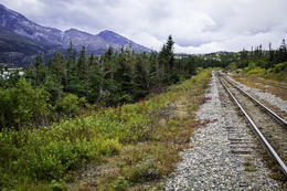 Narrow Gauge railway used for White Pass excursion. , k62conrad - September 2017