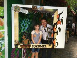 Victor our guide with my grandaughter at Kaokao Chocolates in Cozumel , barbara - January 2018