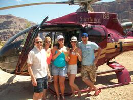 L to R: Martin, Linda, Charlotte, Me (Sam) and Ryan enjoying our lunch break in the Canyon , Samantha T - September 2012
