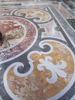 Throughout the vatican museum areas the marble floors were most impressive , Elizabeth J - November 2011