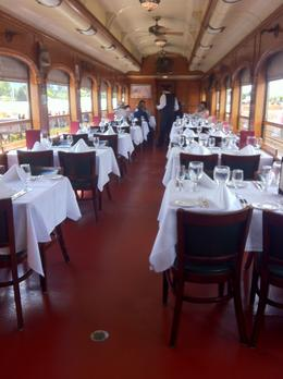 The dining car, Kierra - August 2014