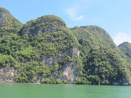 Beautiful views of the limestone islands throughout Phang Nga Bay , Lauren - December 2013