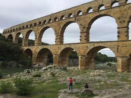 This was a highlight for us. Visiting Pont du Gard, the ancient Roman aqueduct almost 2000 years old , Sunshine P - May 2016