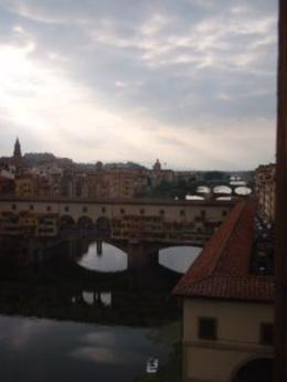 Ponte Vecchio...from the window of the Uffizi Gallery. , Zenobia L - October 2012