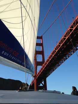 Sailing under the Golden Gate Bridge , Nadine P C - August 2015