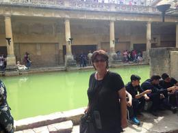 My sister. Sue at the Roman Baths , Arlene B - July 2017
