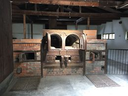 Dachau Old Crematorium built in the summer of 1940. This crematorium was in operation until April 1943. During this period approx. 11,000 prisoners were cremated here Info taken from sign outside ... , Shari - September 2015