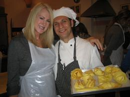 Me and our lovely chef. - December 2008
