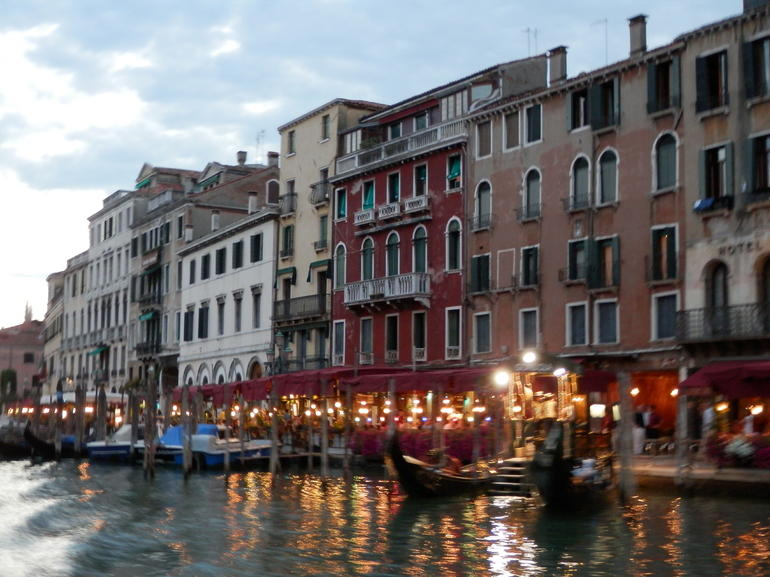 Arriving at The Grand Canal at dusk - Venice