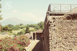 Entrance at Pompeii with the mountains in the background , James P - July 2011