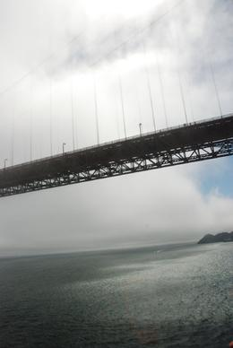 Flying under the golden gate bridge - August 2009