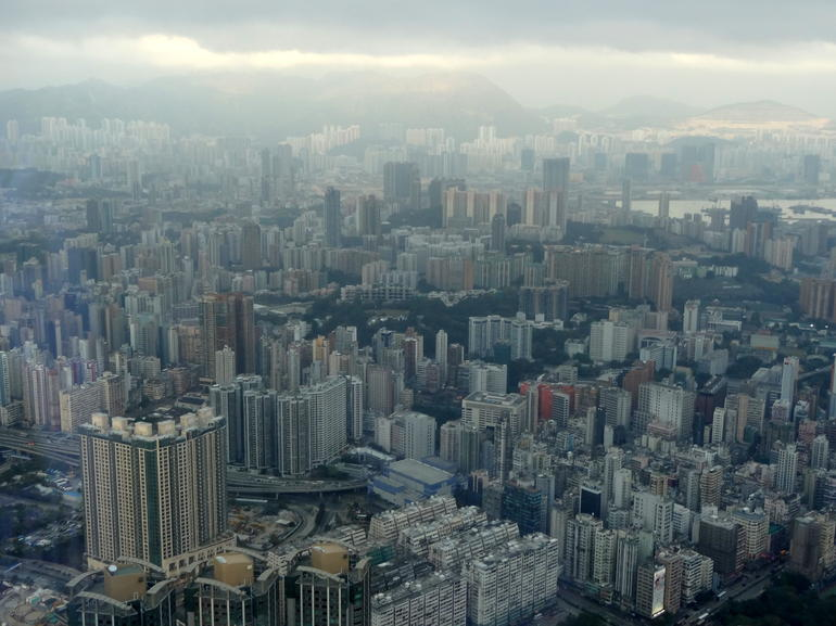 From Sky100 towards former Kai Tak airport - Hong Kong