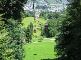 This is the first of 2 gondola rides to get to the top of Pilatus. , Susan B - July 2015