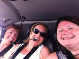 Jude, Mel and Carol on board the Sundance helicopter on route to the Grand Canyon for our champagne breakfast! :) , judeproc - August 2014