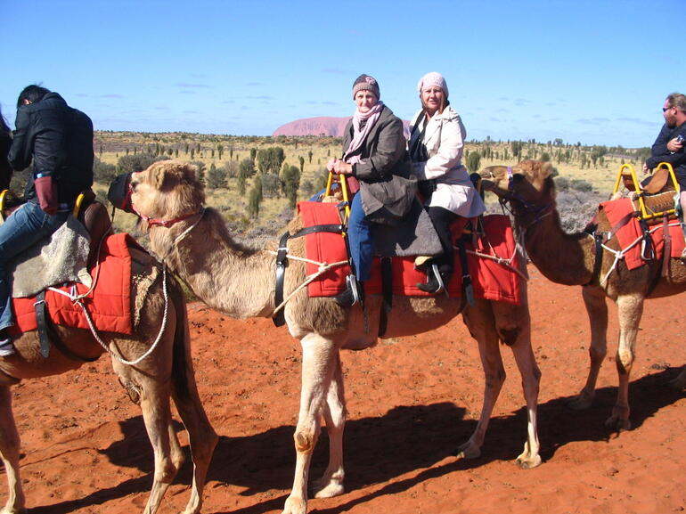 Me and Mum in N.T on her 70th Birthday - Ayers Rock