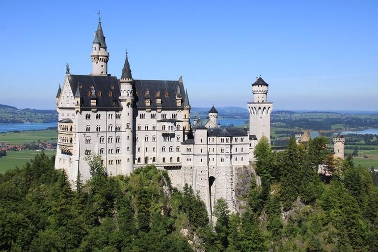 Neuschwanstein Castle from Marion Bridge - Munich