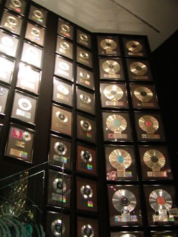 Platinum and Gold Records throughout the mansion. , JAMES B - June 2015