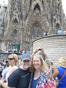 Me and my daughter waiting to enter the Sagrada Familia. Having booked the tour previously allowed us to literally skip the long winding line waiting to enter. , John T - August 2014