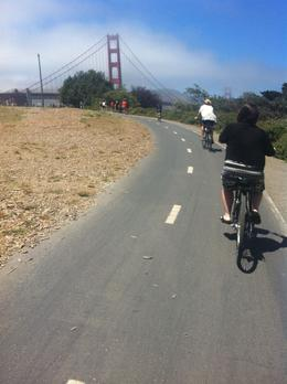 Riding up to the Bridge, Kierra - August 2014