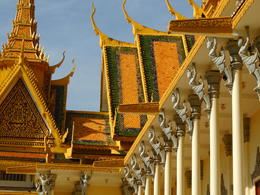 The Throne Hall exterior is very detailed at the Royal Palace. , Kevin F - December 2014