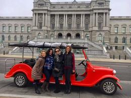 L to R: Kim, Jen, Lisa, and Ann in our cherry red cart. Photo cred to Anna! , Ann - January 2017