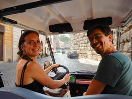 Lauren and Giacomo our private Golf Cart Tour guides , Maureen G - September 2017