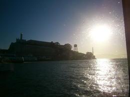 Sun going down behind Alcatraz , Kerry ' - July 2013