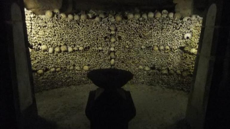 Alter room on the Paris Catacombs Tour - Paris