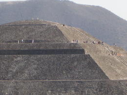 Zoom picture taken while standing on the Aztec Temple of the Moon , Chris K - April 2014