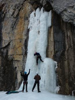 We got to watch the ice climbers at the end of the canyon., Kelly G - February 2010