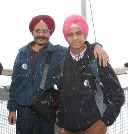 Enjoying cold weather / snowing , Tejinder S - April 2015
