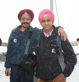 Enjoying cold weather / snowing , Tejinder S - April 2015