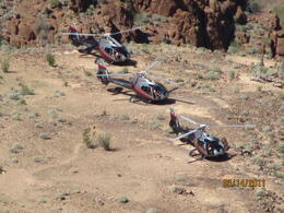 Other Tours landing in the Flight Pad in the Canyon , John F - March 2011