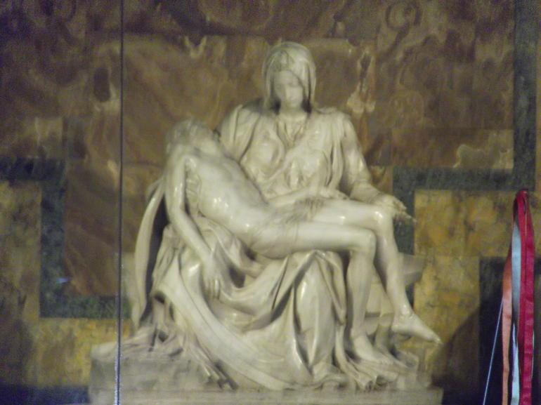 Michelangelo's Pieta in St Peter's Basilica - Rome