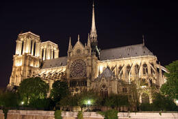 Notre Dame at night - May 2011