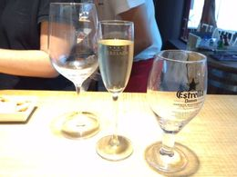 Nice cava with the ham tasting, SCV - December 2014