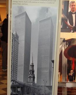 Where the chapel stood before the Twin Towers came down. , Nicole P - May 2012