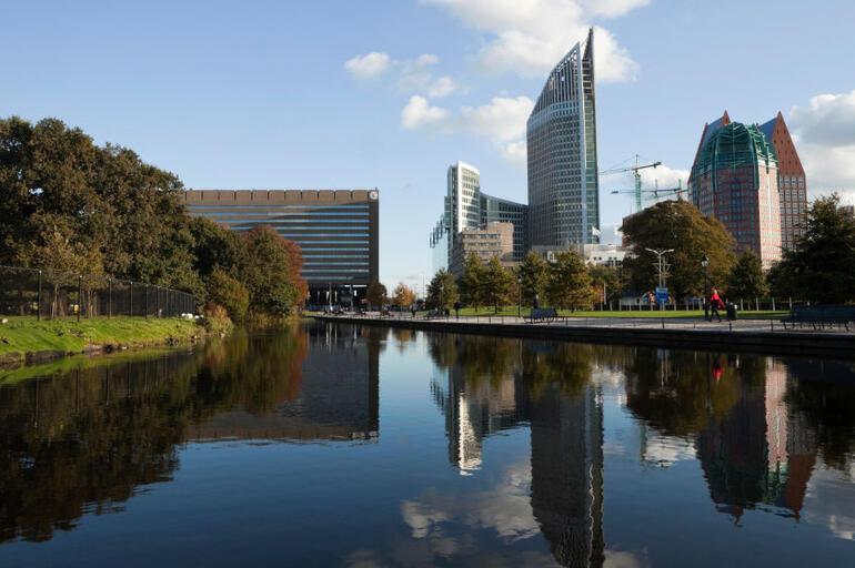 The Hague's modern skyline -