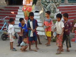 Children playing in the temple complex on Silk Island , Kevin F - December 2014