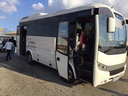 Looks like a full-size motor coach,but actually a mini-version. Very comfy , David S - November 2016