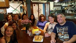 This was taken by our guide, Claire, in the first bar we visited , Laura H - June 2016
