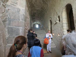 Our guide gives us some more historical and architectural detail on Mont Saint Michel , Jack H - November 2014