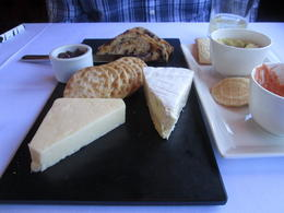 Beautiful selection of various local cheeses and crackers, Nicks - January 2014