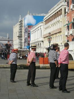 Gondoliers waiting for a fare. - October 2008