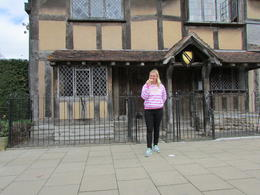 out the front of Shakespears house , monica w - May 2017