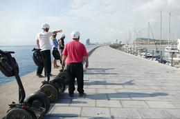 I took this photo of Juri, Steve my husband and a young British couple surveying the landscape of Beautiful Barcelona, along the waterfront. , yolyhandy - September 2016